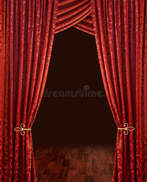 tende rosse tende rosse teatro fotografia stock immagine 10781920