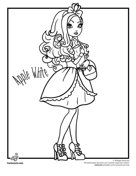 coloring pages of apple white ever after high coloring pages ever after high apple