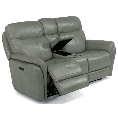 power reclining sofa with usb ports flexsteel latitudes zoey power reclining love seat with