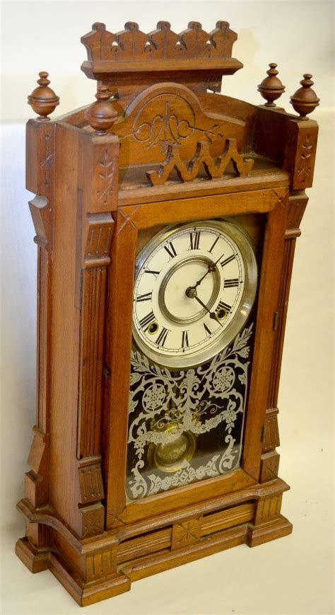 Gilbert Kitchen Clock by Antique Gilbert Quot Dacca Quot Walnut Kitchen Clock With An Unmark