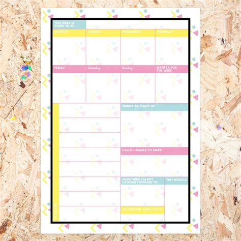 Weekly Desk Planner Pad by Terrific Weekly Desk Planner Pad By Dearly