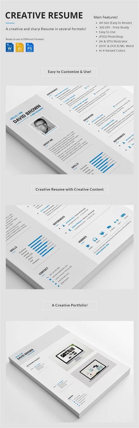Creative Professional Resume Templates by 25 Creative Resume Templates To Land A New In Style