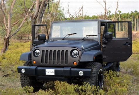 mahindra jeep thar modified mahindra thar to jeep wrangler conversion by jeep studio