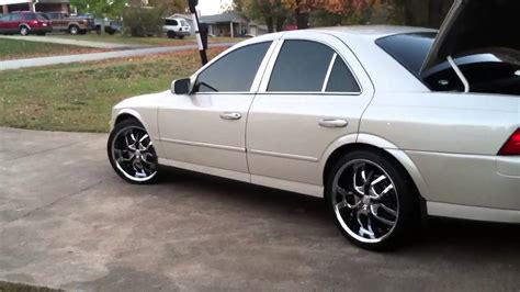 2003 lincoln ls tire size 2002 lincoln ls on 20s