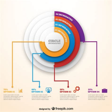 Circle Infographic Template Vector Free Download Circular Timeline Template