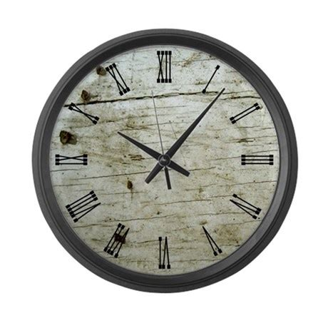 rustic knotty wood large wall clock by 1512boulevard