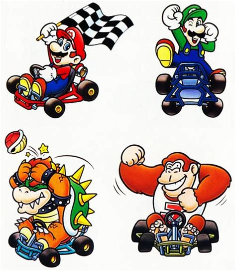 Kaos Mario Bross Mario Artworks 16 mario kart original artwork nintendo 1992