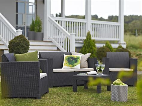 set giardino set salotto elisa da giardino resina polirattan keter