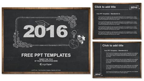 chalkboard powerpoint template free 2016 concept on blackboard powerpoint templates