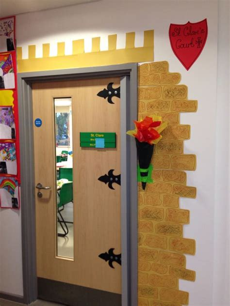 themes for english play castle classroom door decorating classroom door