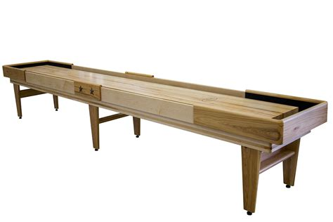 14 foot texan hickory shuffleboard table mcclure tables