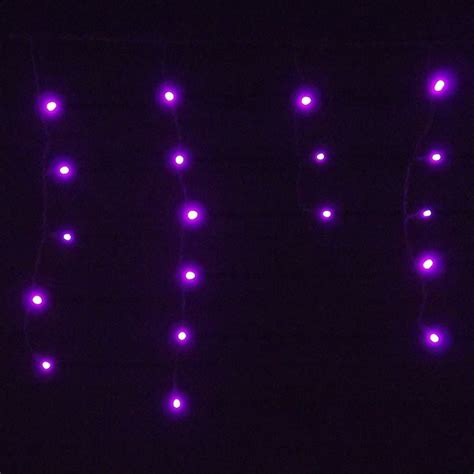 purple ledice p b 5c black wire 105 led christmas icicle