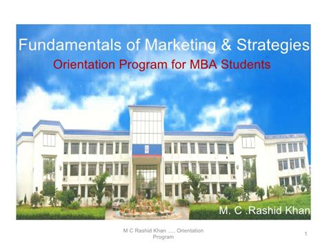 Market Orientation Mba by Marketing Orientation 2009 At Gsba Greater Noida Up