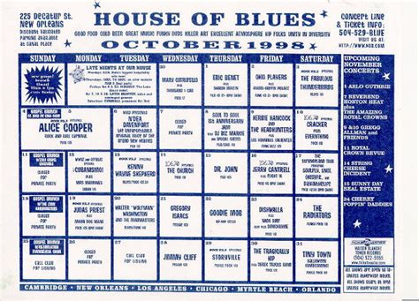 house of blues boston schedule house of blues schedule 28 images house of blues nv