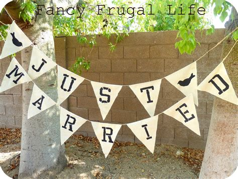 just married bunting template quot just married quot bunting banner
