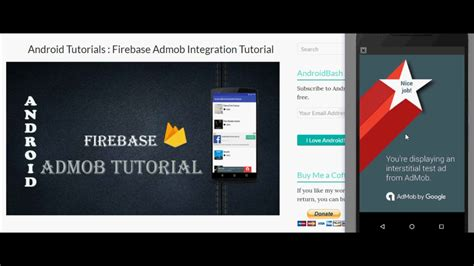 tutorial firebase android android admob tutorial fo creating banner ads native ads