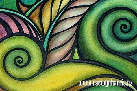 pattern making nz koru art landscapes paintings aotearoa new zealand