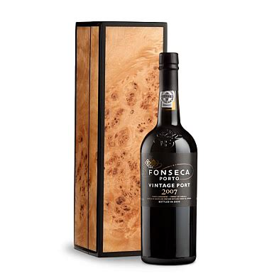 Vintages Handcrafted Wines - fonseca vintage port 2007 in handcrafted burlwood box wine