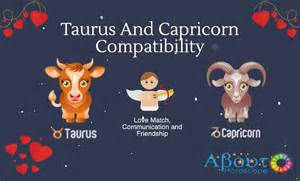 taurus and capricorn compatibility and love match