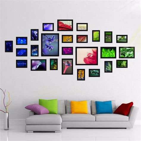 black picture frame sets gallery craft decoration ideas