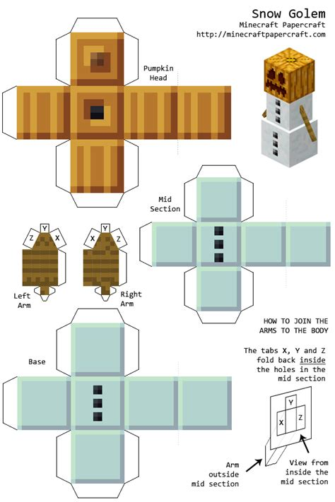 Minecraft Papercraft Snow - variquest 23 poster maker paper crafts