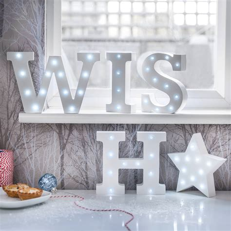 white light up letters white light up letters by letteroom notonthehighstreet com
