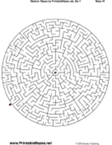 printable mazes intermediate medium mazes