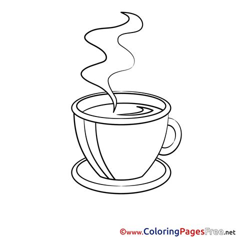cup of coffee free printable coloring sheets