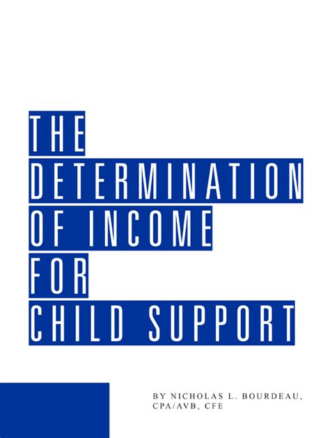 Search Child Support The Determination Of Income For Child Support