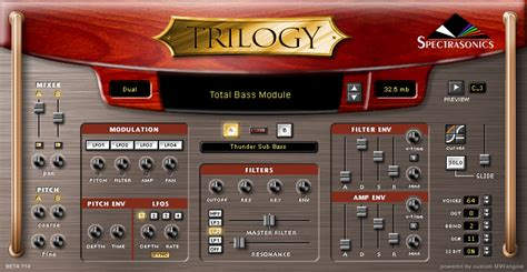 Trilian Spectrasonic Bass Instrument Vsti Vst Plugin Update spectrasonics legacy products trilogy