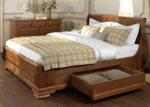 Sleigh Bed With Drawers Wooden Sleigh Beds With Storage Drawers