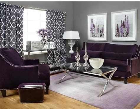 15 Catchy Living Room Designs with Purple Accent Purple