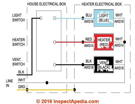 bathroom fan heater light combo wiring diagram wiring