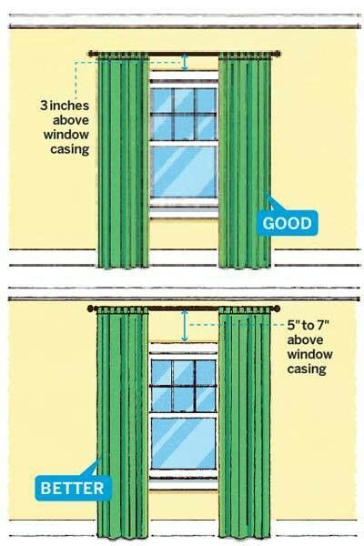 Hang Curtains Higher Than Window | hanging curtains for the home pinterest