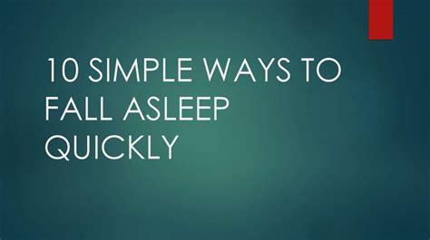 simple ways  fall asleep quickly prezentatsiya onlayn