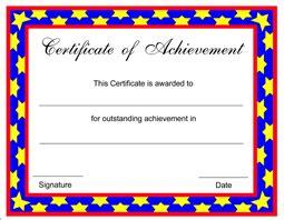 Free Achievement Certificate Templates Editable Certificate Of Achievement Template