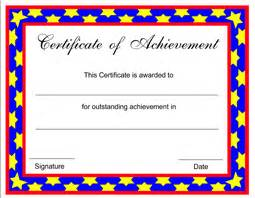 Certificate Of Achievement Template Free Free Achievement Certificate Templates