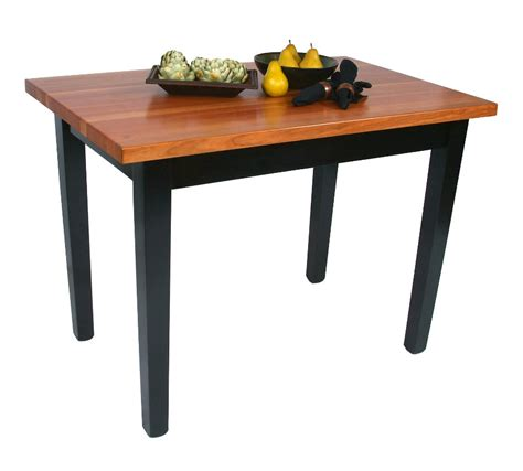 boos le classique cherry butcher block table