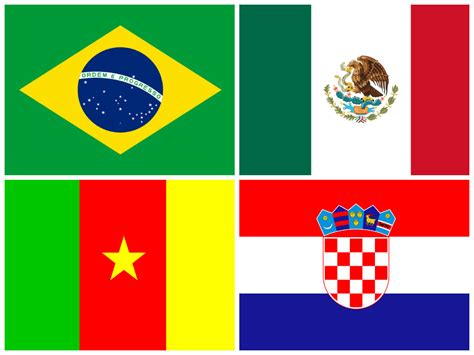 flags of the world mexico fifa world cup 2014 cameroon vs brazil and croatia vs