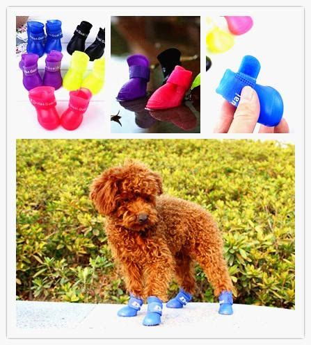 Portable Pet Waterproof Boots 2017 portable lovely waterproof pet boots anti slip