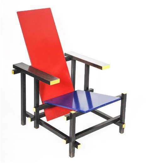sedia rietveld blue chair by gerrit rietveld