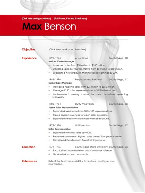 Microsoft Word 2010 Resume Template by Best Photos Of Professional Resume Template Microsoft Word
