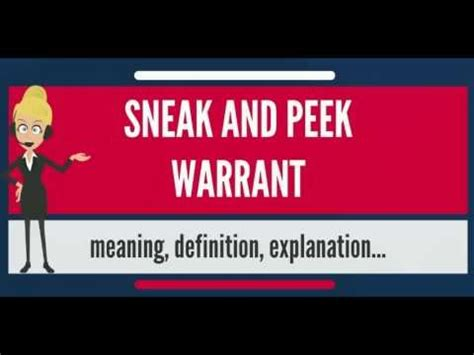 Search Warrant Meaning What Is Sneak And Peek Warrant What Does Sneak And Peek Warrant
