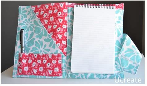 notebook pattern free notebook folder sewing tutorial allcrafts free crafts update