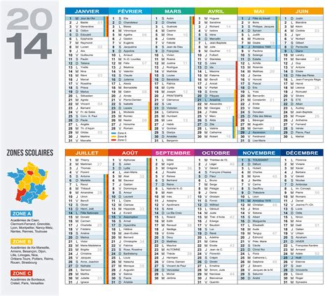 Calendrier Vacances Scolaires 2014 Calendrier 2014