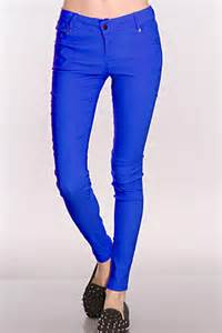 Duvet Covers Nyc Royal Blue Stretch Fit Skinny Jeans Clubwear