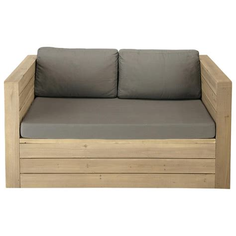 wooden bench seat 2 seater wooden garden bench seat br 233 hat maisons du monde