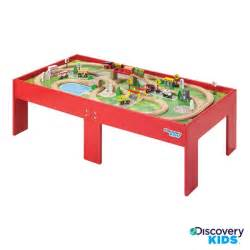 Children S Train Table Discovery Kids Wooden Table Train Set 14906202