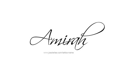 amirah name tattoo designs