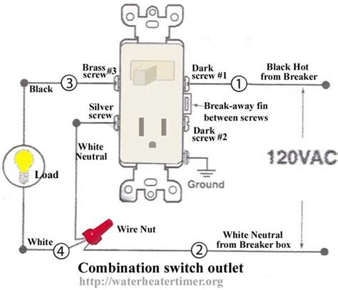 switched outlet wiring diagram how to wire switches combination switch outlet light fixture turn outlet into switch outlet